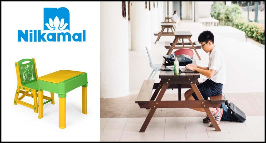 nilkamal junior study table chair