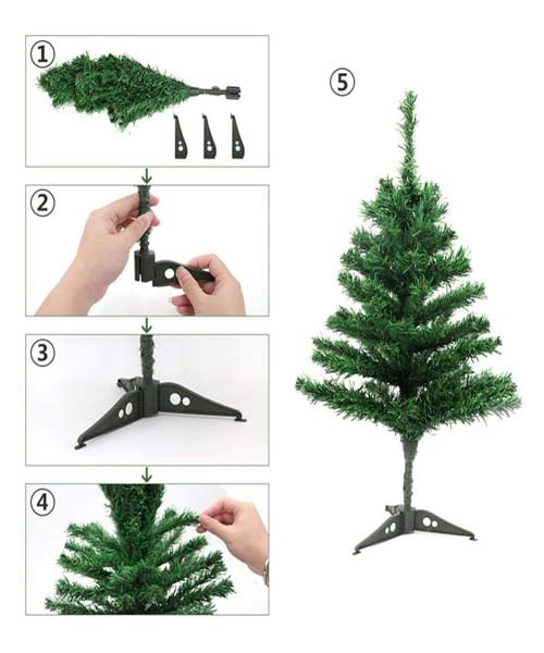 EcoTail Artificial Christmas Tree - 4 Feet Tree