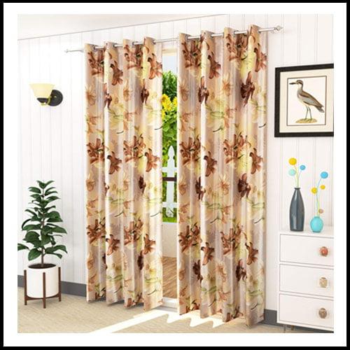 Digital Fancy Flower Design Curtain