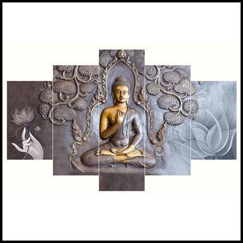 Saumic Craft Set Of 5 Lord Gautama Buddha