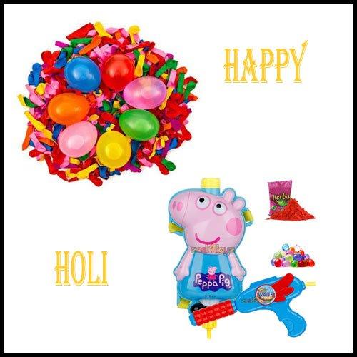Pichkari and Balloons , Holi Water Balloons