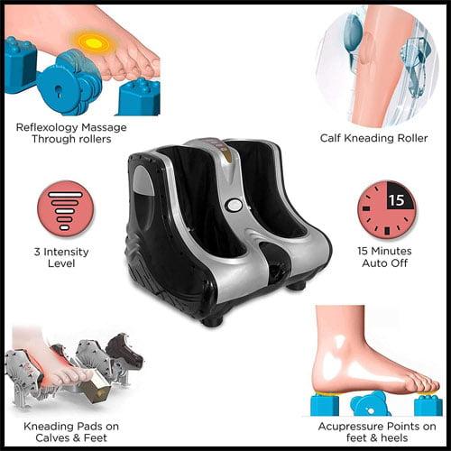 Acupressure points on feet and heels