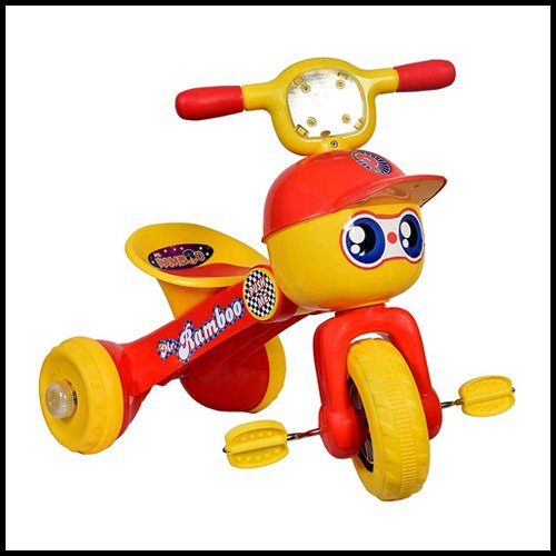 Goyal's Rambo Style Baby Tricycle with Music and Lights,  best tricycle for 2 year old india