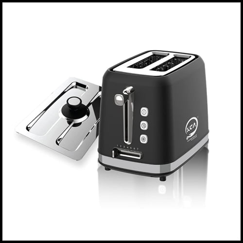 KGA Luxury Black Pop-Up Toaster